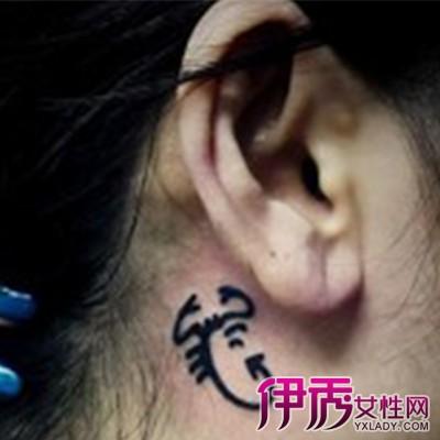 天蝎座m字母纹身分享展示