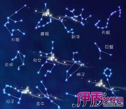 十二星座图片星空图带文字_星座符号