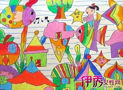 小孩读书的画画图片