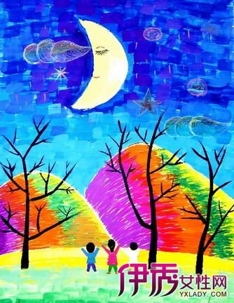 【月亮儿童画图片】【图】月亮儿童画图片欣赏图片