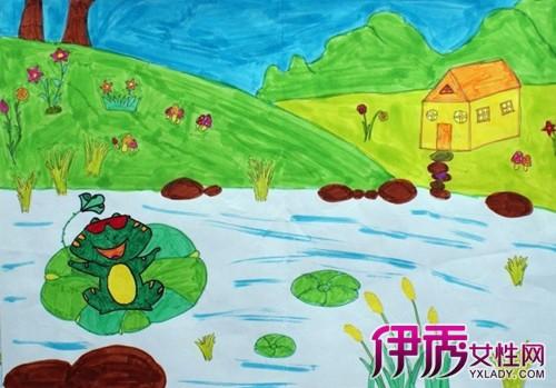 儿童画青蛙教程 和你的孩子一起动手画一画吧
