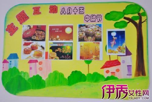 【幼儿园中秋节主题画】【图】喜迎中秋节幼儿园主题
