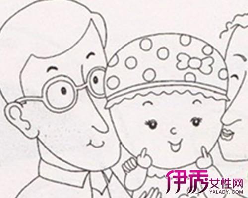 儿童画全家福简笔画作品欣赏 四点建议帮助家长引导孩子