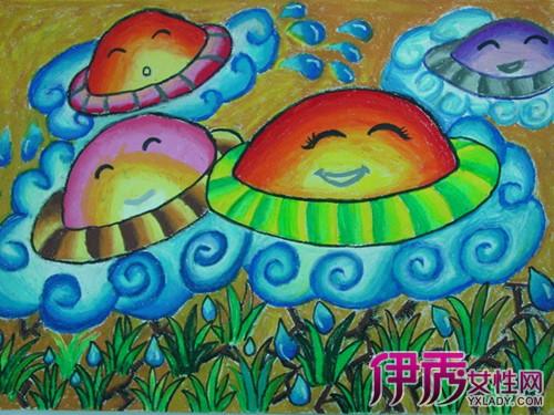 人物美术作品图片/外国儿童油画作品/儿童主题画教师范画/科幻儿童画图片
