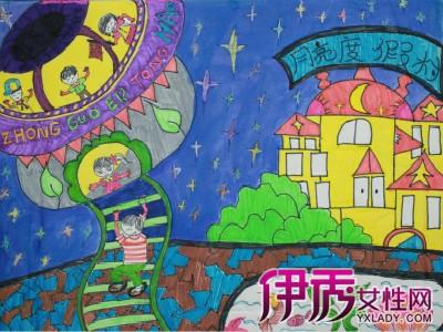 画几幅庆中秋儿童画 古代的中秋节儿童画