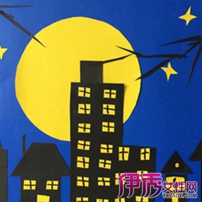 【幼儿园中秋节粘贴画】【图】充满童趣的幼儿园中秋