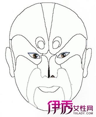【图】幼儿京剧脸谱简笔画欣赏 儿童学简笔画应注意什么问题?图片