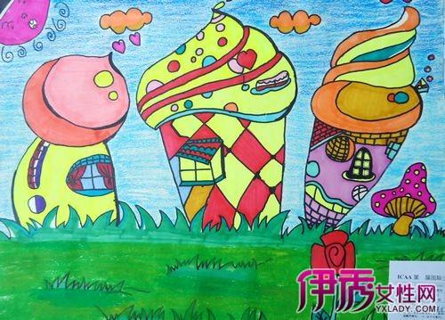 【儿童画蘑菇】【图】儿童画蘑菇