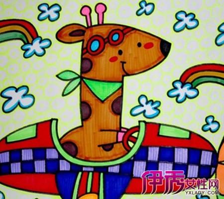 儿童画飞机的图片欣赏 教你如何正确引导孩子绘画