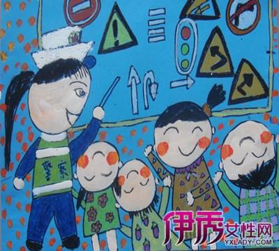 【交通安全儿童画作品】【图】交通安全儿童画作品