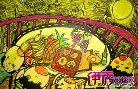 【儿童画画中秋节的画】【图】儿童画画中秋节的画作