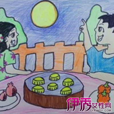 【中秋节儿童绘画作品】【图】中秋节儿童绘画作品