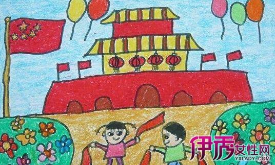 儿童画我爱祖国