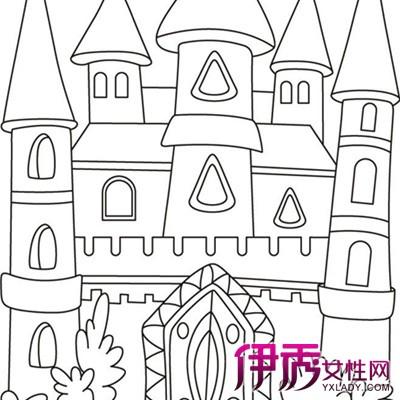 城堡画画图片大全_公主城堡图片儿童画图片