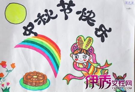 小学生中秋节绘画图展 认识中秋各个地方习俗