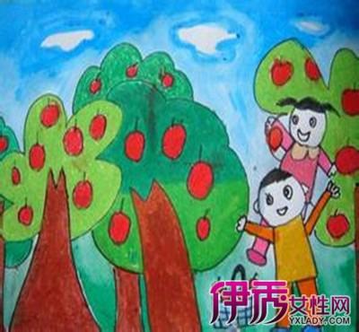 幼儿秋天水果简笔画欣赏 教孩子以超越语言的方式抒发情感