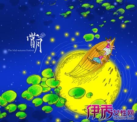 【图】中秋节儿童水彩图画的图片欣赏