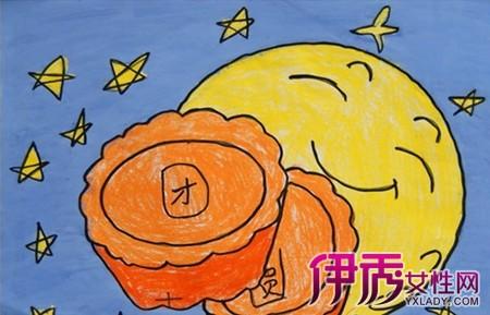 【图】中秋节儿童画作品大全