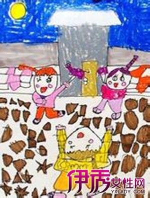 幼儿 中秋简画-中国传统节日中秋节儿童简笔画 与家人共度佳节
