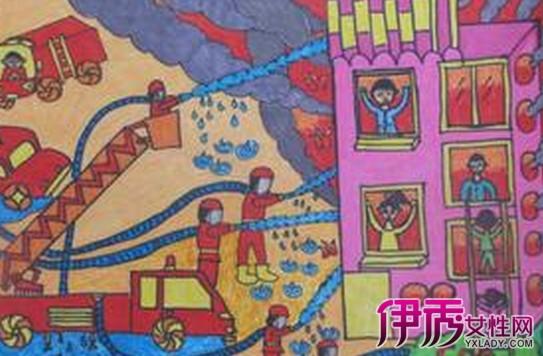 儿童消防主题绘画欣赏 7步教你让孩子掌握消防安全知识