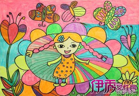 简单好看的儿童画 科学认识儿童作画图片