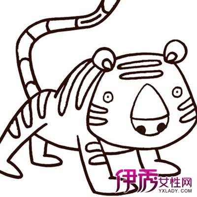 【图】老虎儿童画图片大全
