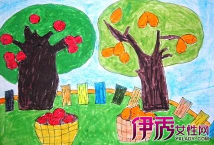秋天丰收景色儿童画欣赏 如何让孩子学好儿童画的小技巧图片
