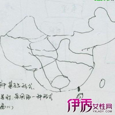 【图】幼儿简笔画中国地图图片欣赏 笔尖下的中国