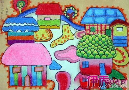欣赏美丽的秋天儿童画 进入孩子的画画世界