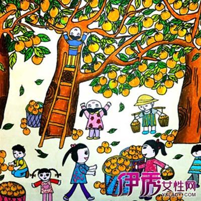 萌萌哒秋天的田野儿童画 以超越语言的方式来感受丰收