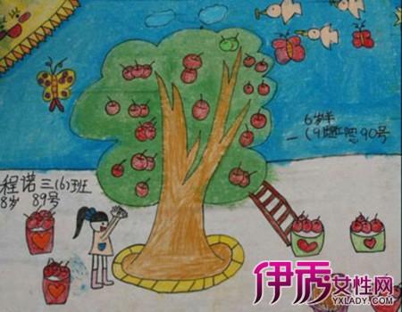 【秋天的图画的儿童画】【图】萌萌哒秋天的图画的画