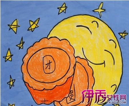【中秋节幼儿简笔画】【图】精美的中秋节幼儿简笔画
