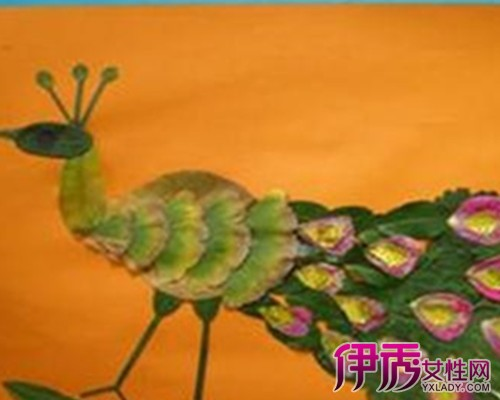 树叶亲子贴画荣获最佳创意一等奖_无限创意尽在此记亲子树叶贴画作品精选江苏