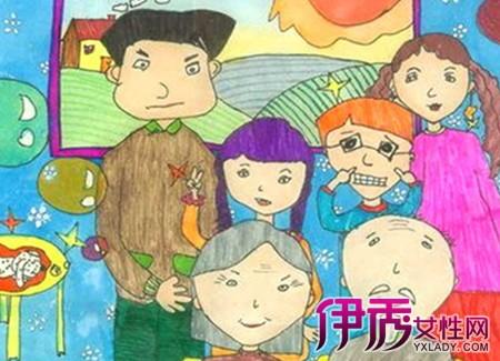 【幸福的一家人儿童画】【图】看幸福的一家人儿童画图片