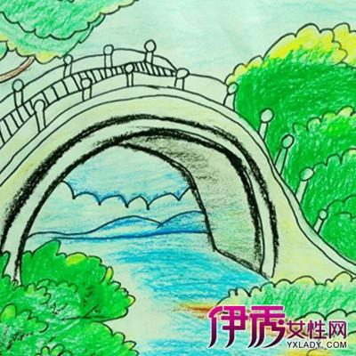 可爱的儿童画桥图片 激发儿童想象力