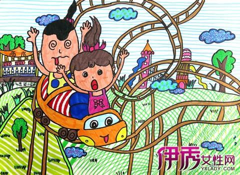 【图】鉴赏儿童画游乐园画 带你玩转游乐城图片