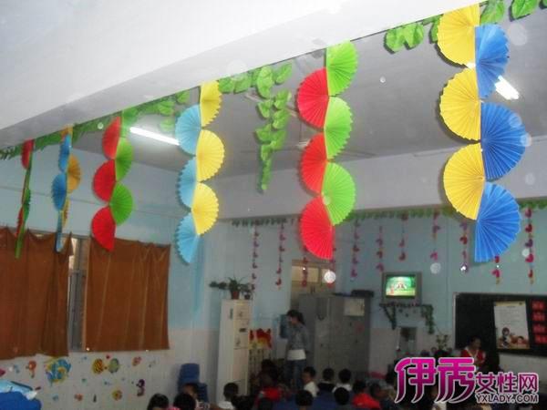 【幼儿园教室吊饰布置图片大全】【图】幼儿园教室图片