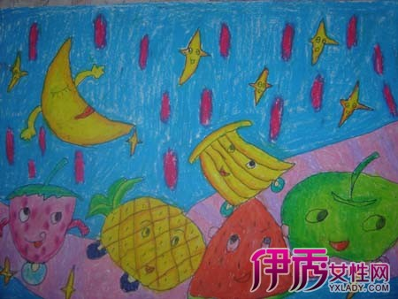 秋天的水果幼儿绘画图片鉴赏 5大幼儿绘画的意义你理解吗