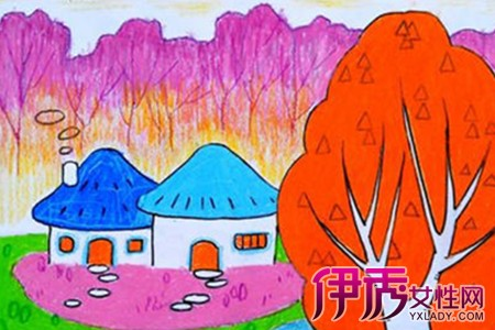 找秋天的画-秋天的图画的儿童画欣赏 盘点儿童学画画的六大好处