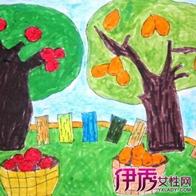 秋天的画儿童画图片欣赏 儿童画的6大特点你知道吗
