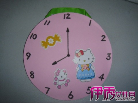 儿童手工钟表制作