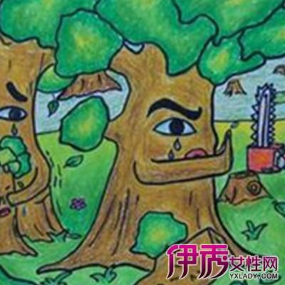 【兒童畫森林圖片】【圖】欣賞兒童畫森林圖片