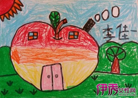 【图】苹果房子儿童画大全 七种儿童画种类介绍图片