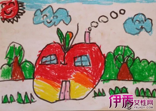 【苹果房子儿童画】【图】苹果房子儿童画大全