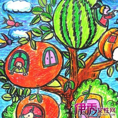 水果儿童画图片展示 儿童画的六大特点介绍