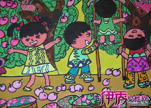 丰收儿童画优秀作品欣赏 如何指导孩子进行儿童画创作
