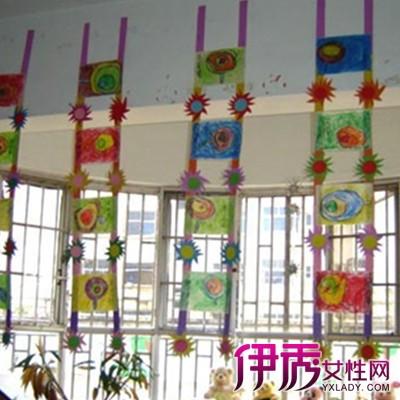 【图】幼儿园教室吊饰布置图片欣赏 可爱卡通小细节营造温馨氛围图片