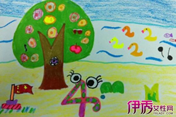 儿童数字画图片_新河弄校区二年级创意