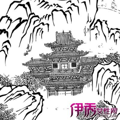 【幼儿山水画简笔画】【图】漂亮的幼儿山水画简笔画