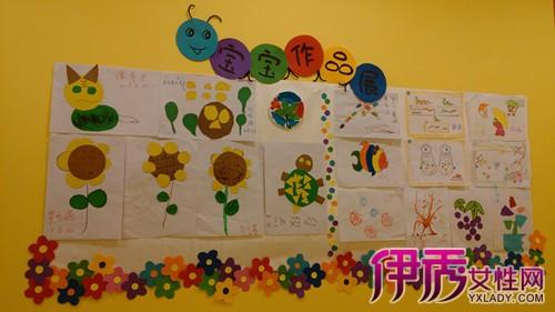 幼儿作品展示墙图片展示 教你制作好看的作品展示墙